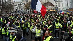 """محتجو """"السترات الصفراء"""" في باريس للسبت ال11 على التوالي، 26 يناير/ كانون الثاني 2019."""