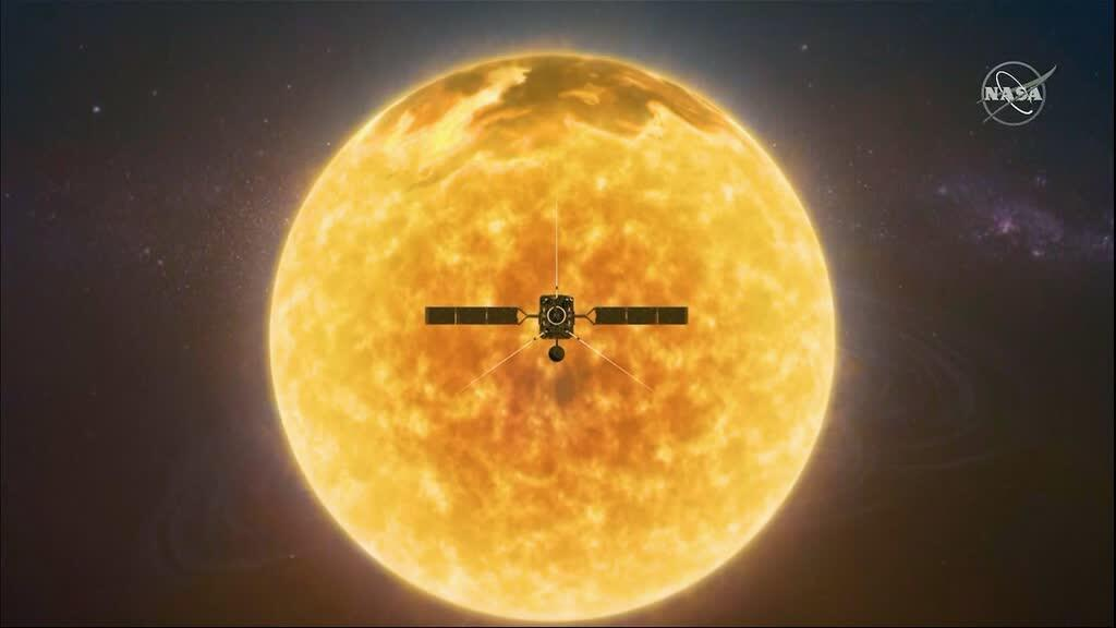 Photographie fournie par la NASA et obtenue le 3 février 2020 montrant le Solar Orbiter.