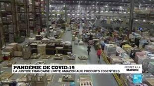 2020-04-14 16:04 Pandémie de Covid-19 : la justice française limite Amazon aux produits essentiels