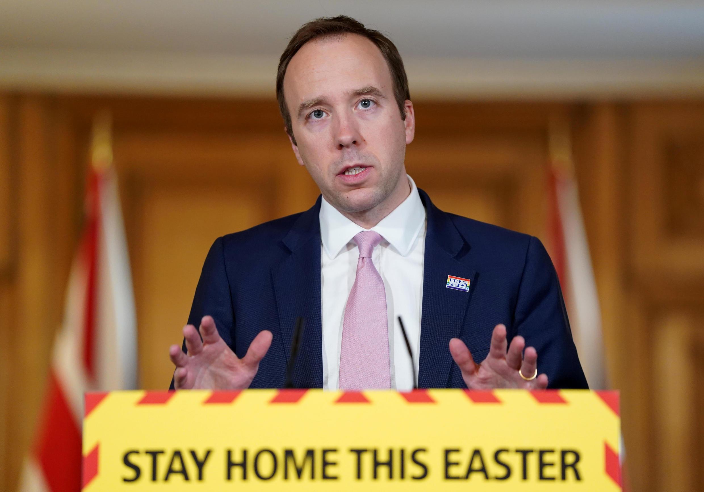 Le ministre de la Santé britannique, Matt Hancock, a enjoint les Britanniques à rester chez eux pour le week-end de Pâques vendredi 10 avril.