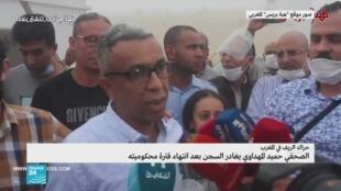 الصحافي المغربي حميد المهداوي حارج أسوار السجن