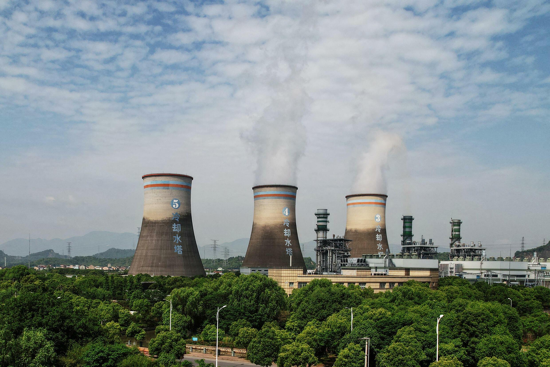 Une centrale thermique à Hangzhou, dans la province chinoise du Zhejiang, dans l'est de la Chine, le 16 juillet 2021.