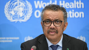 World Health Organization (WHO) Director-General Tedros Adhanom Ghebreyesus gives a press conference on the situation regarding the COVID-19 at Geneva's WHO headquarters on February 24, 2020.