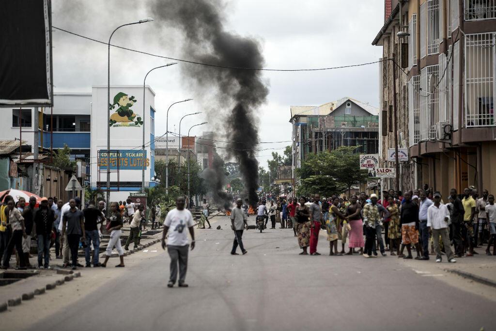 Des Congloais manifestent à Kinshasa contre le président Joseph Kabila le 21 janvier.