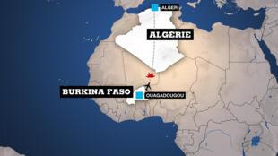 L'avion assurait la liaison entre Ouagadougou et Alger.