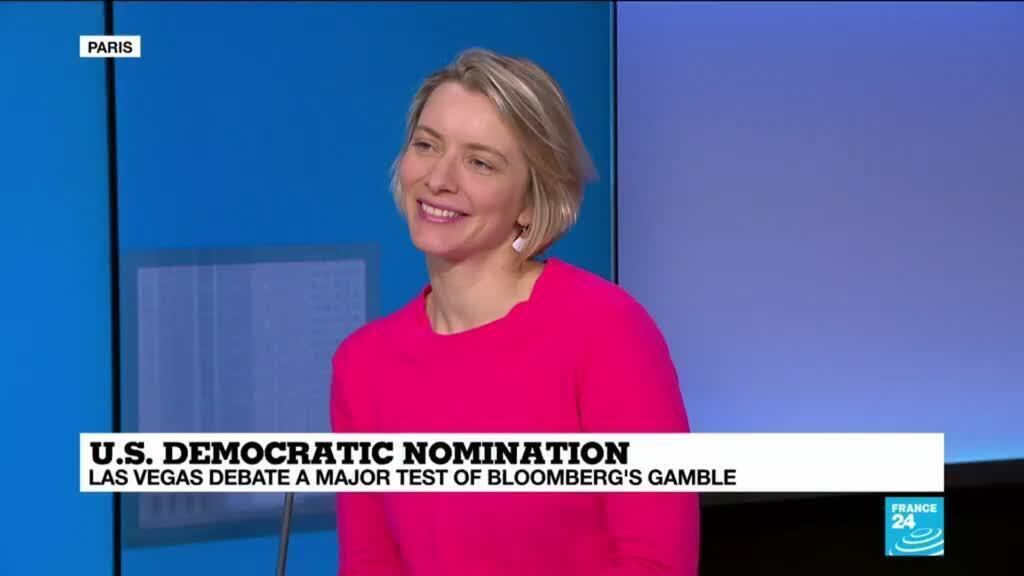 2020-02-19 14:33 Democratic debate in Las Vegas a major test of Bloomberg's gamble