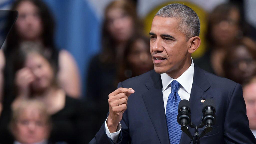 Le président américain lors de son discours à Dallas, le 12 juillet 2016.