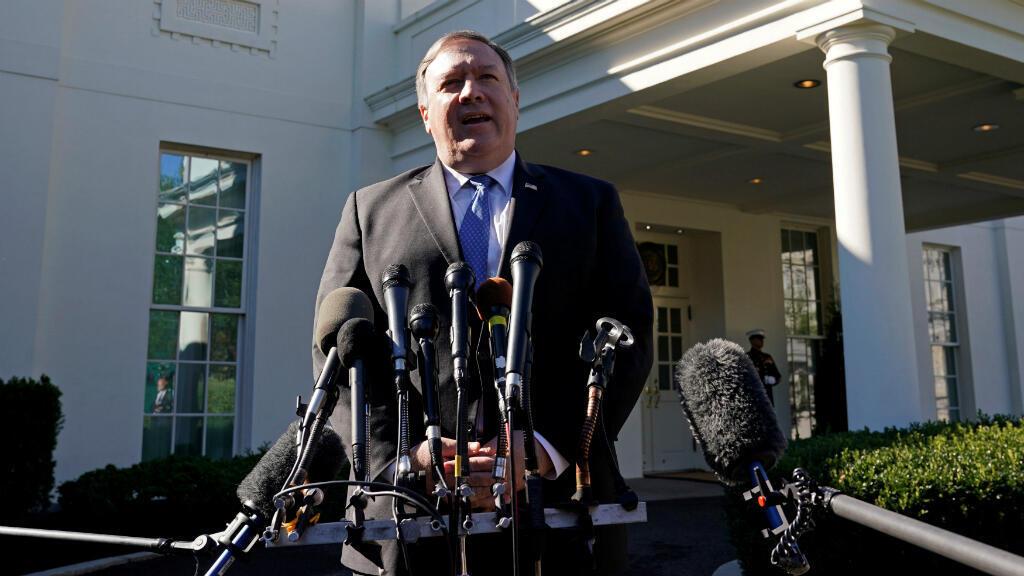 El secretario de Estado de Estados Unidos, Mike Pompeo, se dirige a la prensa luego de su reunión con el presidente Donald Trump en la Casa Blanca el 18 de octubre de 2018.