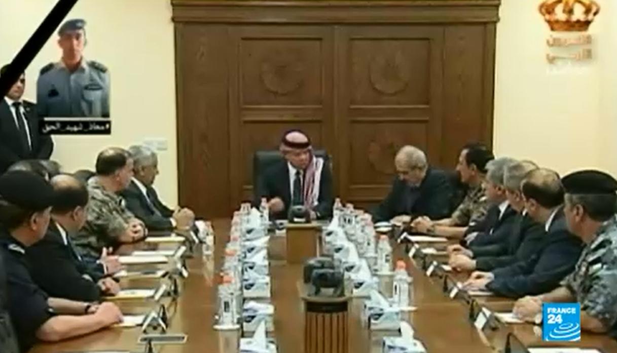 العاهل الاردني الملك عبد الله الثاني في عمان في 3 تشرين الثاني/نوفمبر 2013