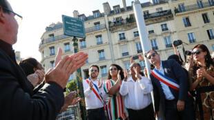 """تدشين حديقة """"مارييل فرنكو"""" في باريس - 21 سبتمبر/أيلول 2019."""