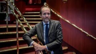 Jean-Marc Dumontet, propriétaire de six théâtres parisiens, en février 2018 à Paris