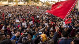 مظاهرة في مدينة جرادة المغربي 26 كانون الأول/ديسمبر 2017