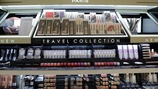 A cosmetic display of French cosmetics group L'Oreal at Nice's International Airport, France, October 10, 2018. L'Oreal announced it will remove the word 'whitening' from its products on June 26, 2020.
