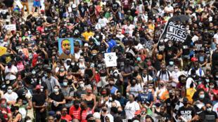 تعبئة كبرى ضد العنصرية في العاصمة الأمريكية واشنطن في 28 أغسطس/آب 2020.