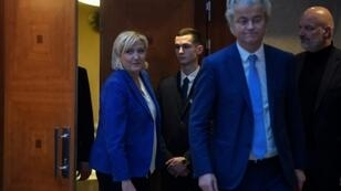 France's National Rally head Marine Le Pen (L) and Dutch politician Geert Wilders are among the far-right party leaders expected at the meeting in Prague