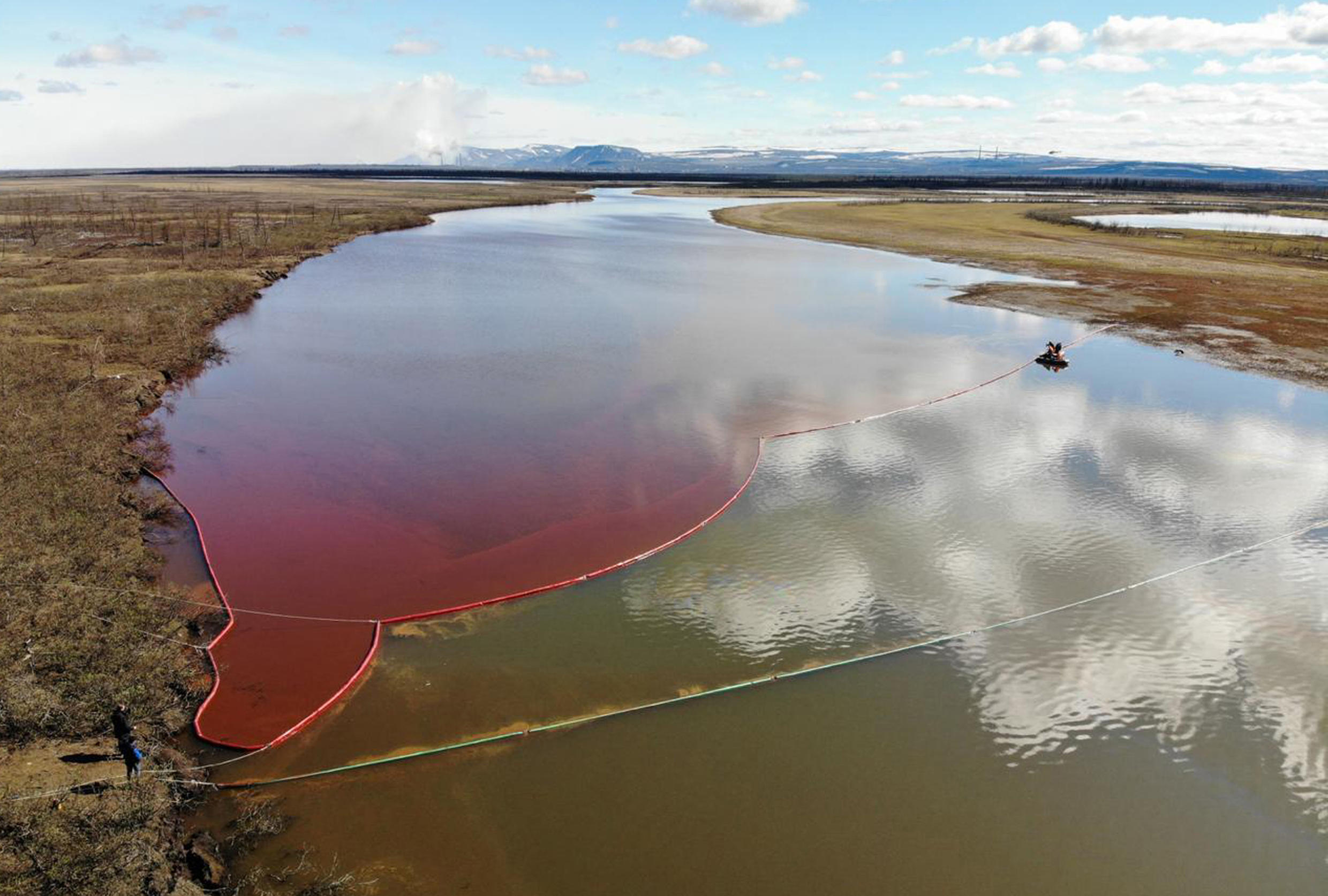 More than 20,000 tonnes of diesel fuel has spilled into the Ambarnaya river in Siberia