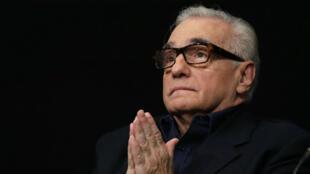 Martins Scorsese le 12 octobre à Paris, lors d'une conférence de presse à la Cinématèque française qui lui consacre une expostion et une rétrospective.