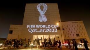 شعار مونديال 2022 تم كشفه عند الساعة 20.22 بتوقيت الدوحة. 2019/09/3.