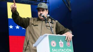 نيكولاس مادورو خلال عرض عسكري في كراكاس في 28 ديسمبر/كانون الأول 2018