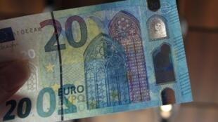 - أوراق نقدية من فئة 20 يورو