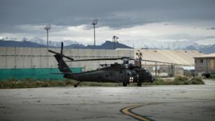 Un hélicoptère américain à la base de Bagram, le 31 mai 2014, en Afghanistan.