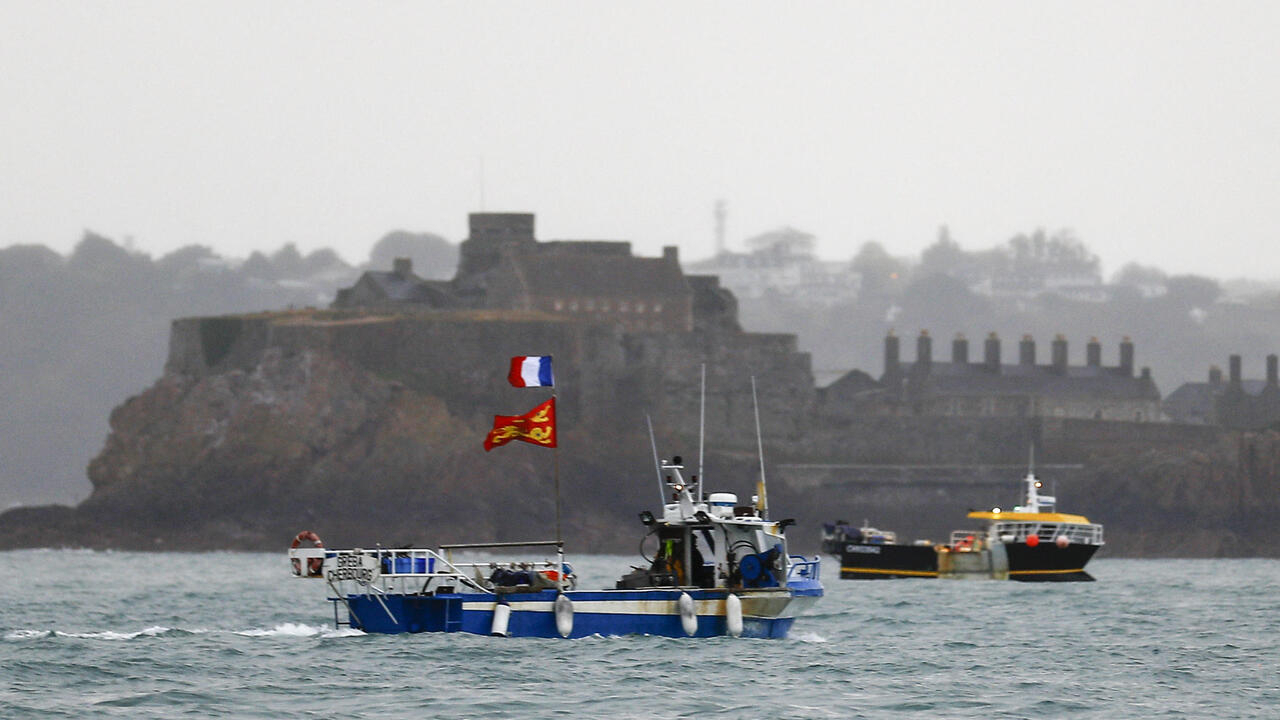 Flotilla of French fishing ships sails to Jersey in escalating row over fishing grounds
