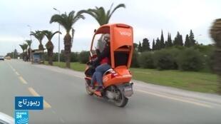 """""""إنتيغو"""" أول تجربة لتاكسي الدراجات النارية في تونس."""
