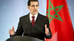 Saad Eddine El Othmani, lors d'un discours en tant que ministre des Affaires étrangères, à Berlin, le 23 novembre 2012.
