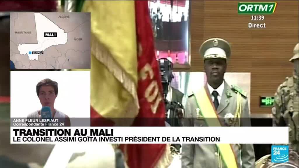 2021-06-07 15:01 Investiture d'Assimi Goïta : que retenir du discours du nouveau président de la transition du Mali ?