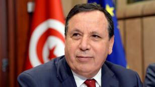 Khemaies Jhinaoui, ministre tunisien des Affaires étrangères, à Bruxelles, le 11 mai 2017.