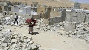 Syrian refugees have been ordered by the Lebanese government to demolish cinderblock shelters