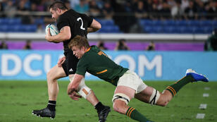 Les All Blacks, insaisissables face à l'Afrique du Sud.