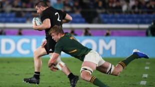 Les All Blacks, insaisissables face à l'Afrique du Sud.