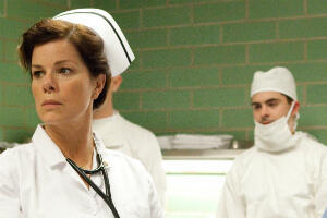 "Marcia Gay Harden and Zac Efron in ""Parkland""."