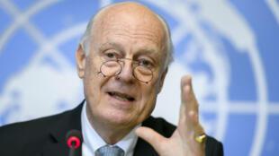 L'envoyé spécial de l'ONU, Staffan de Mistura, jeudi 6 octobre 2016, à Genève.