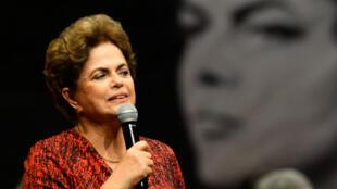 """Lors de son audition devant les sénateurs lundi, Dilma  Rousseff avait dénoncé un """"coup d'État""""."""