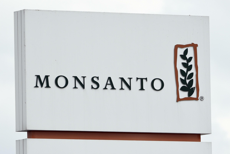 Logo de Monsanto sur un site à Lillo, près d'Anvers, le 24 mars 2016