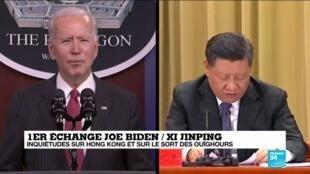 2021-02-11 16:05 Joe Biden échange avec Xi Jinping, évoque Hong Kong et les Ouïghours