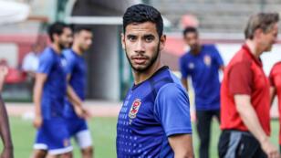 اللاعب ناصر ماهر خلال حصة تدريبية