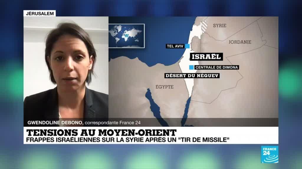 """2021-04-22 08:06 Tensions au Moyen-Orient : frappes israéliennes sur la Syrie après un """"tir de missile"""""""