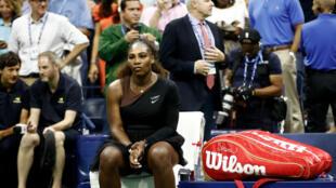 Serena Williams, battue en finale de l'USOpen, le 8 septembre 2018.