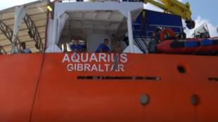 Imagen de archivo de la embarcación humanitaria Aquarius, el 12 de agosto de 2018.