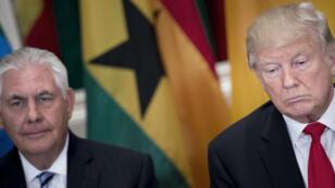 Le président Donald Trump et son chef de la diplomatie Rex Tillerson.