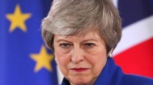 رئيسة الوزراء البريطانية تيريزا ماي 11 أبريل/نيسان 2019