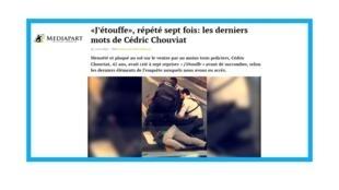 Interpellation de Cédric Chouviat en janvier 2020.