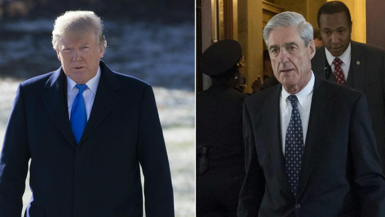 Le procureur spécial Robert Mueller (à droite) a enquêté pendant deux ans sur les proches de Donald Trump (à gauche) et leurs liens éventuels avec la Russie.