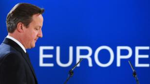 Le Premier ministre britannique David Cameron lors d'un sommet européen à Bruxelles, le 24 octobre 2014.