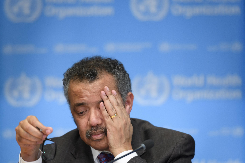 Tedros Adhanom Ghebreyesus, director de la OMS, durante una rueda de prensa en tiempos del Covid-19.