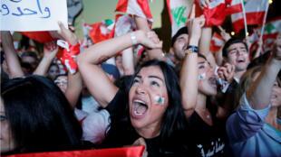 Des milliers de personnes se sont rassemblées dimanche 3 novembre 2019, place des Martyrs, à Beyrouth,  pour une nouvelle manifestation contre le pouvoir.