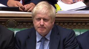 Le Premier ministre britannique Boris Johnson à la Chambre des Communes, le 25 septembre 2019.